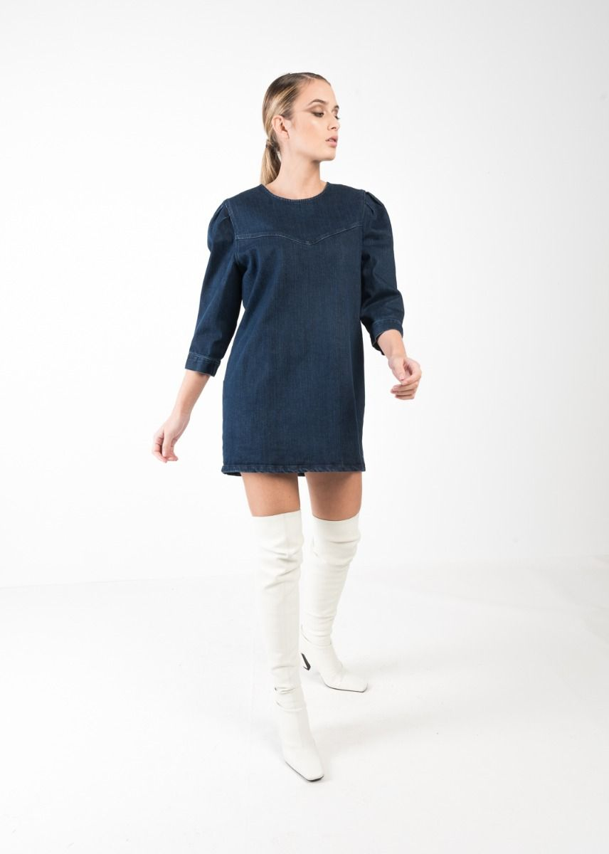 VESTIDO DENIM PLIEGUES